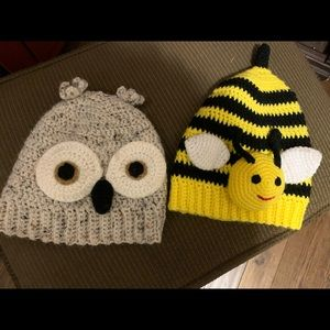 Set of 2 handmade hats